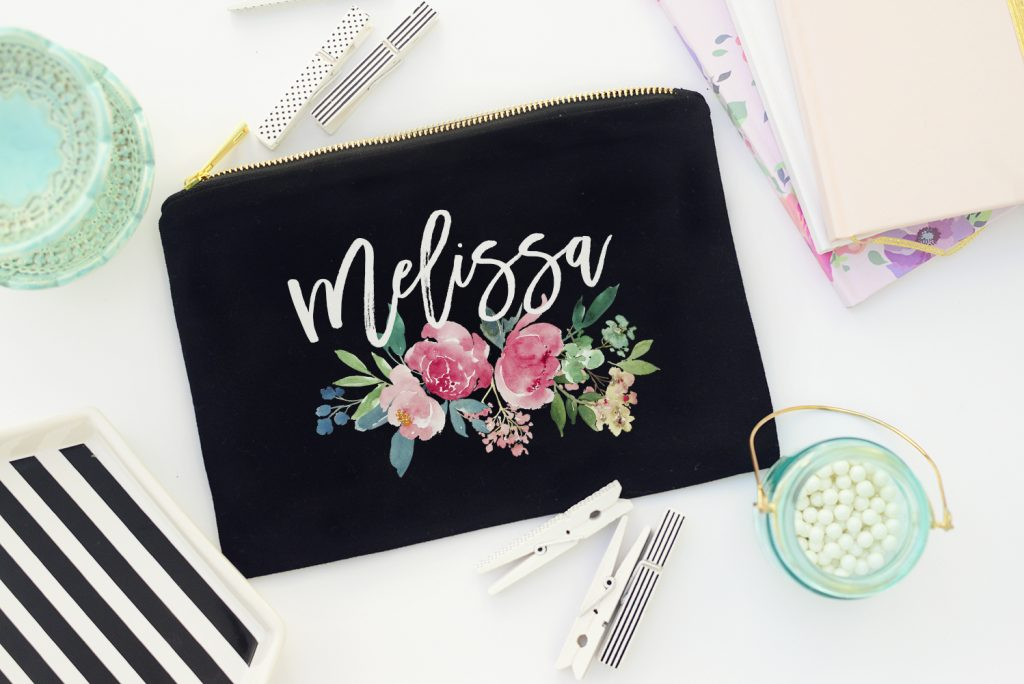 Custom Name Makeup Bags