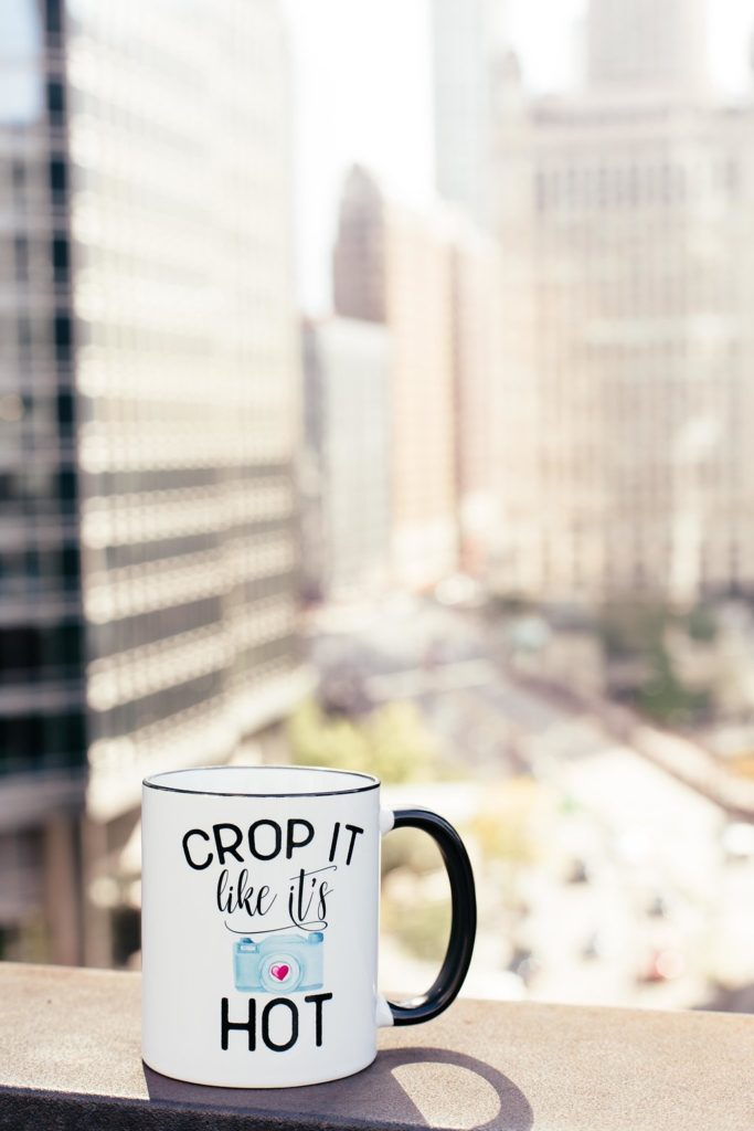 Crop It Like It's Hot ceramic photographers mug from Mugsby.